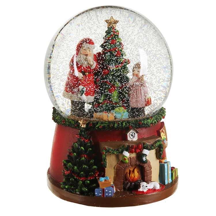 32735-santa-with-tree-child-snow-globe-w