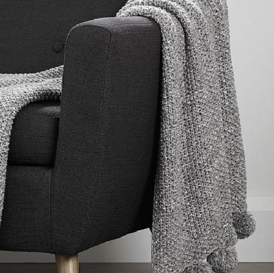 Cosy-Knit-Pom-Pom-Throw-Grey-1