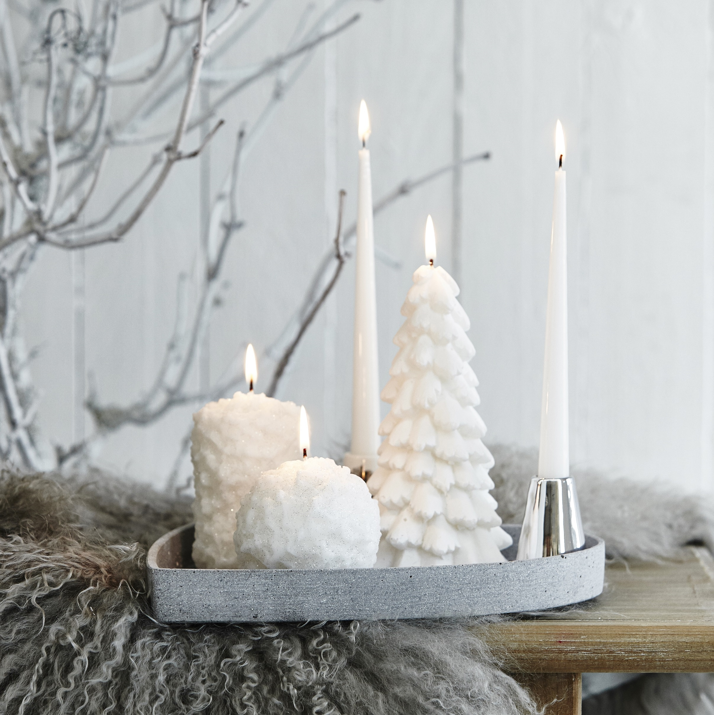 Christmas Tree Decorative Candle by Lene Bjerre, Festive ...