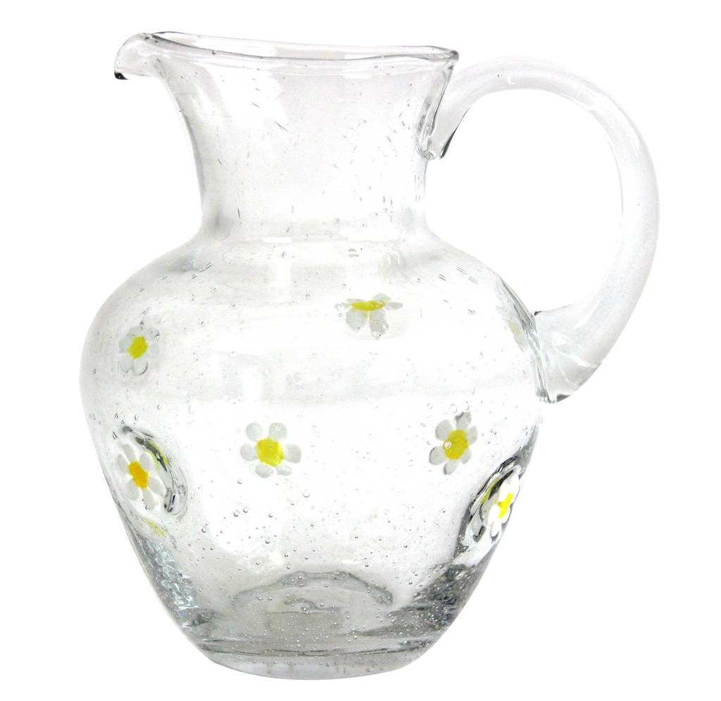 daisy-embossed-glass-jug