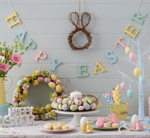 Pastel Easter Egg Wreath Tutti Decor Ltd Gisela Graham