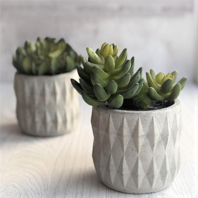 artificial-succulent-grey-cement-pot-high