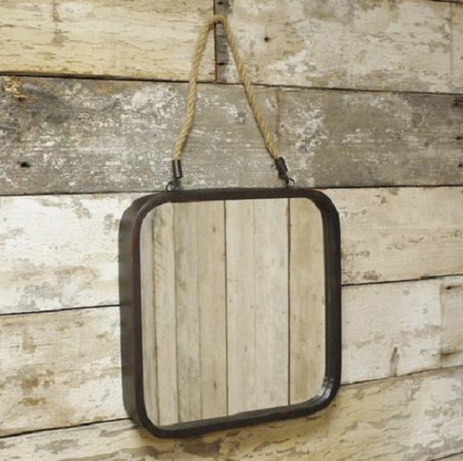 square industrial mirror