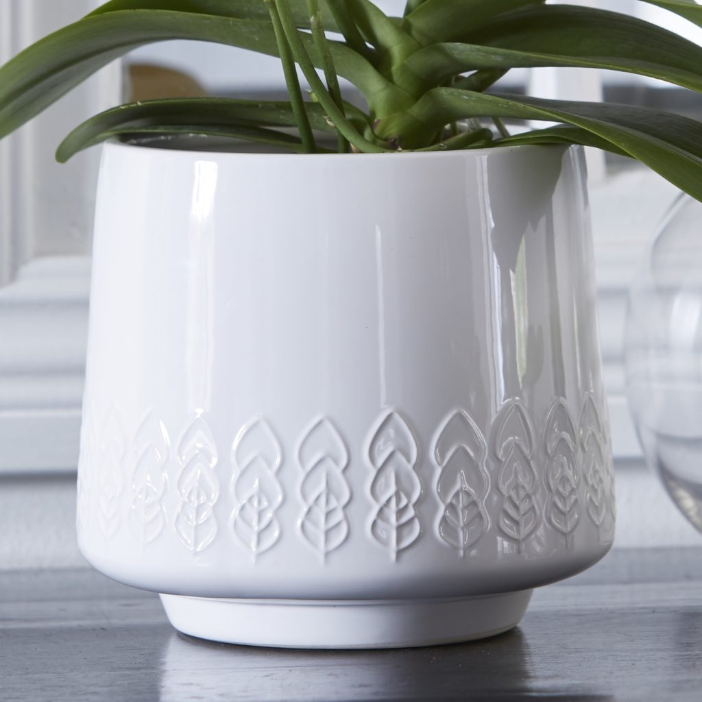 white-leaf-planter-close
