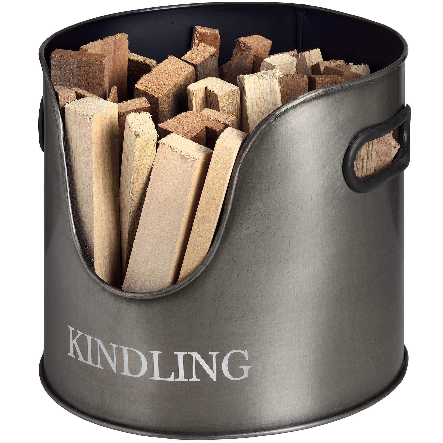 Set of Log and Kindling Holders Fireside Accessories Log Bucket Kindling Bucket