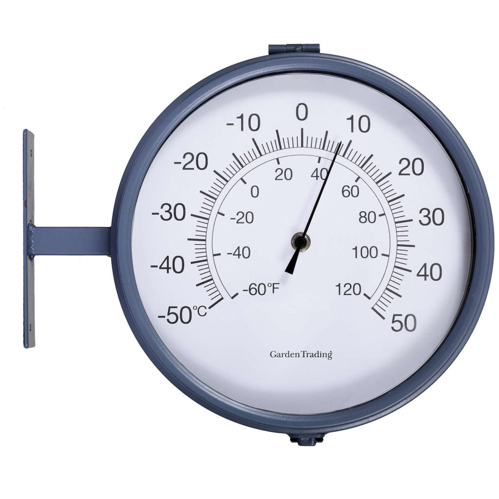 Waterloo Double Sided Outdoor Clock and Thermometer – Charcoal-1