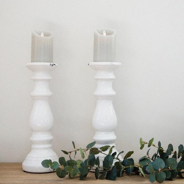 cement candlesticks