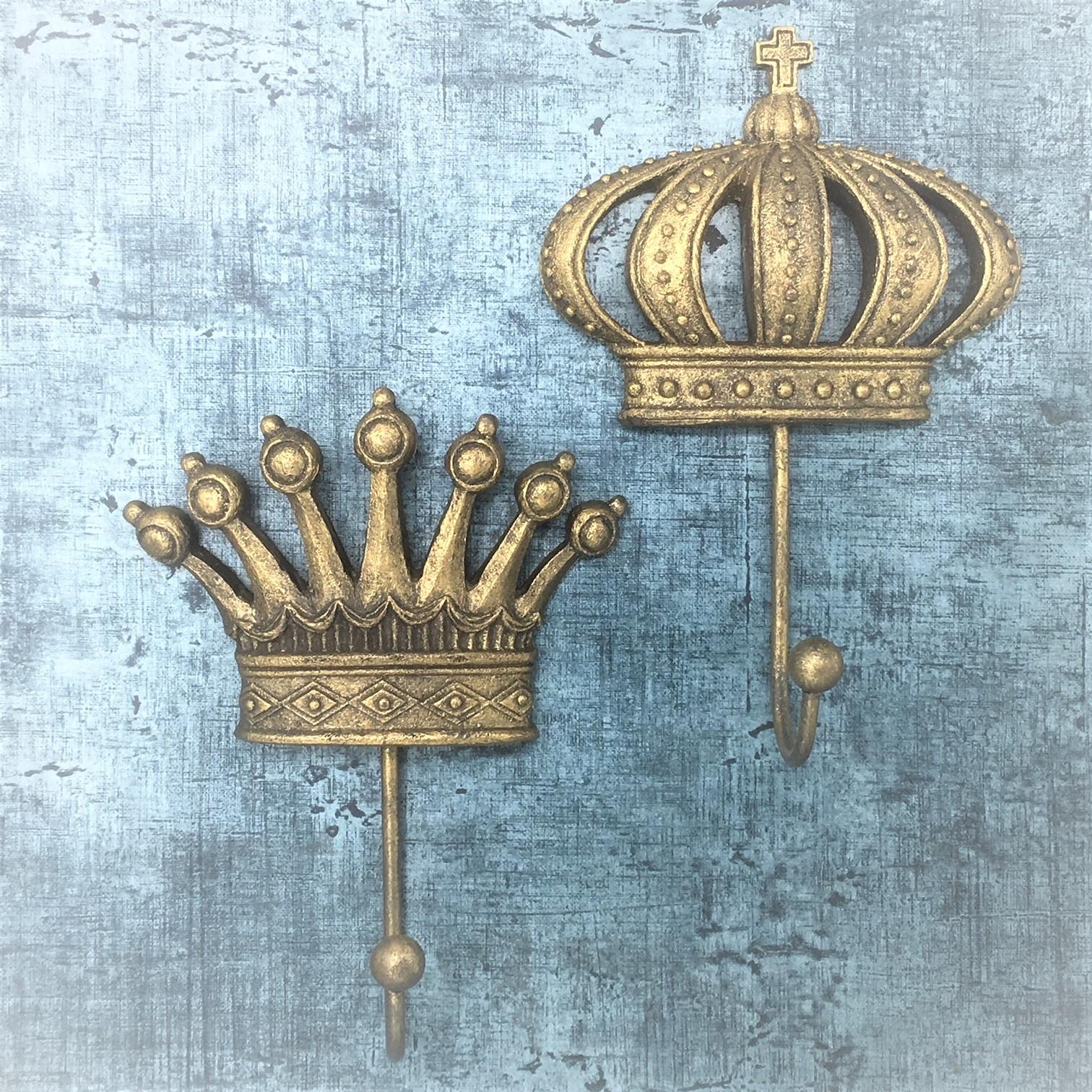 King Crown Gold Wall Hook Tutti Decor Ltd Hill Interiors