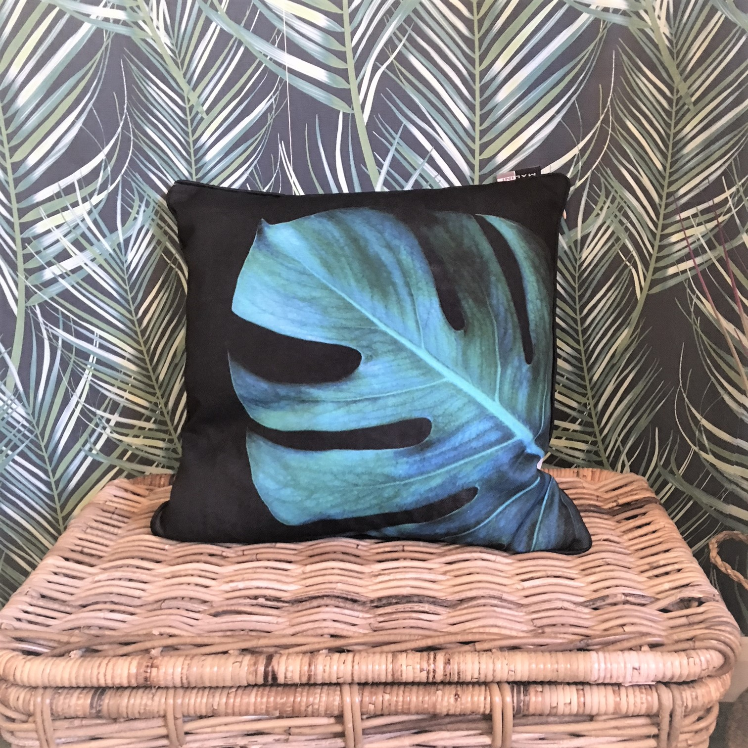 Tropical Monstera Palm Leaf Scatter Cushion Tutti Decor