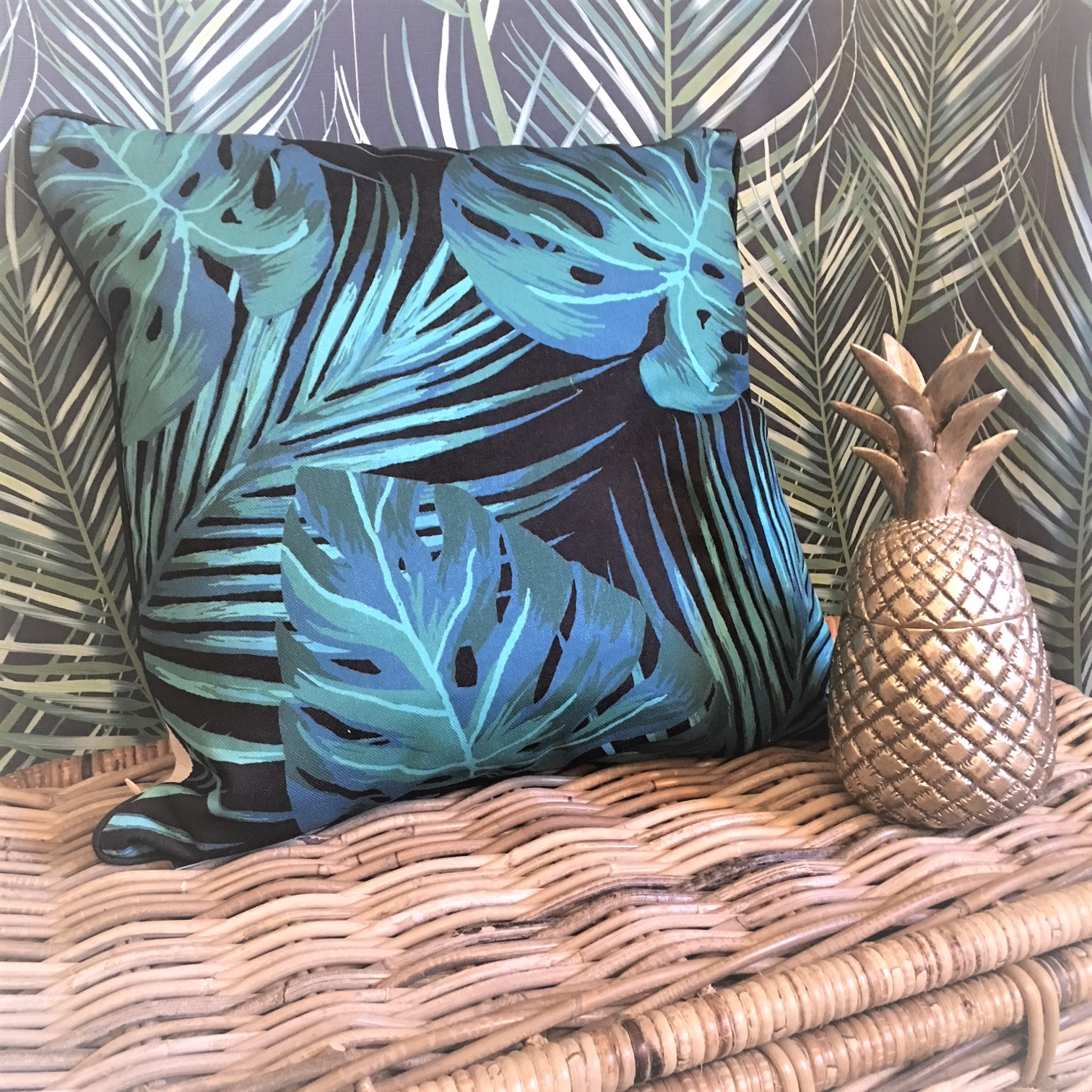 Tropical Leaves Scatter Cushion - Tutti Decor Ltd - Malini