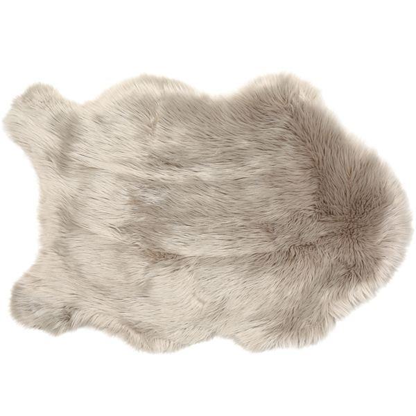 taupe-faus sheepskin-rug
