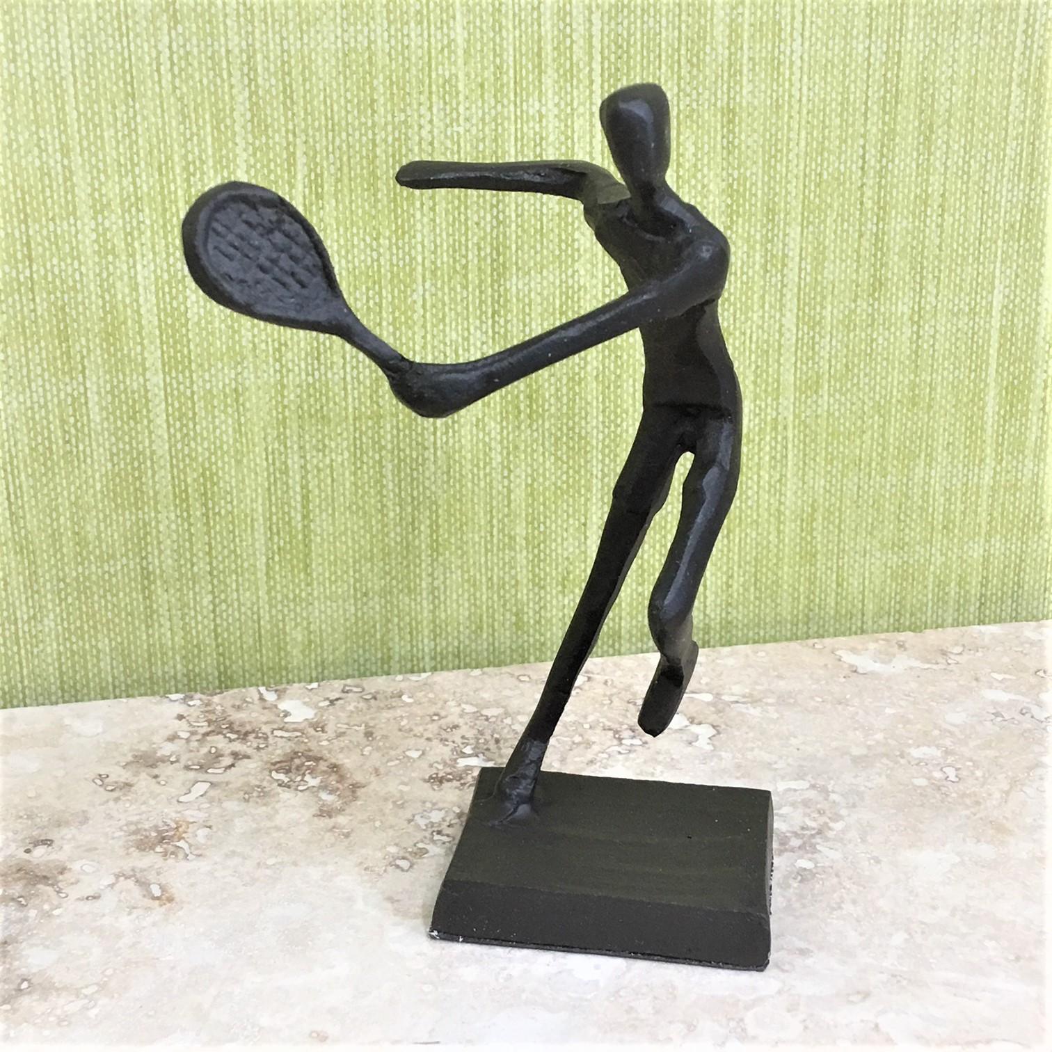 Tennis Player Metal Silhouette Statue Ornament - Tutti Decor Ltd