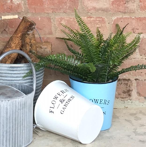 blue-enamel-planter-bucket