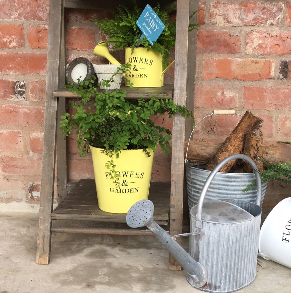 yellow-bucket-planter-tin-bucket
