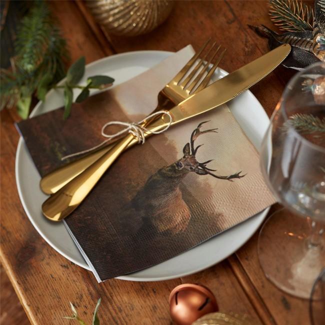 stag-napkins-christmas