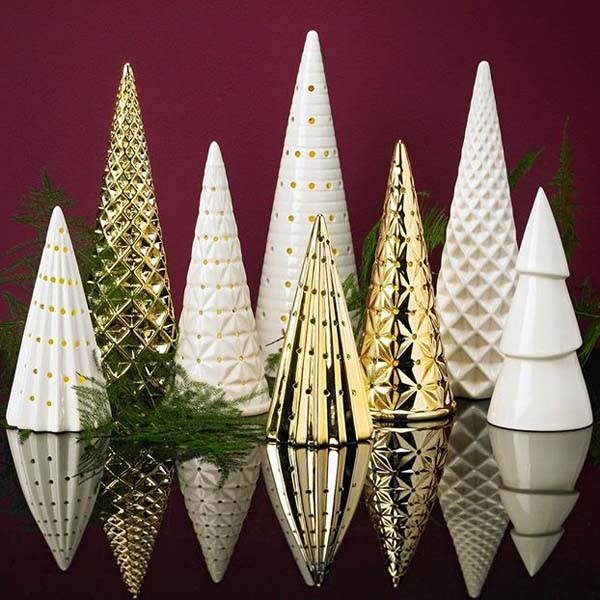 Ceramic Christmas Tree Decorations.Details About Gold Ceramic Led Christmas Tree Ornament Decoration Perfect For Display 16cm