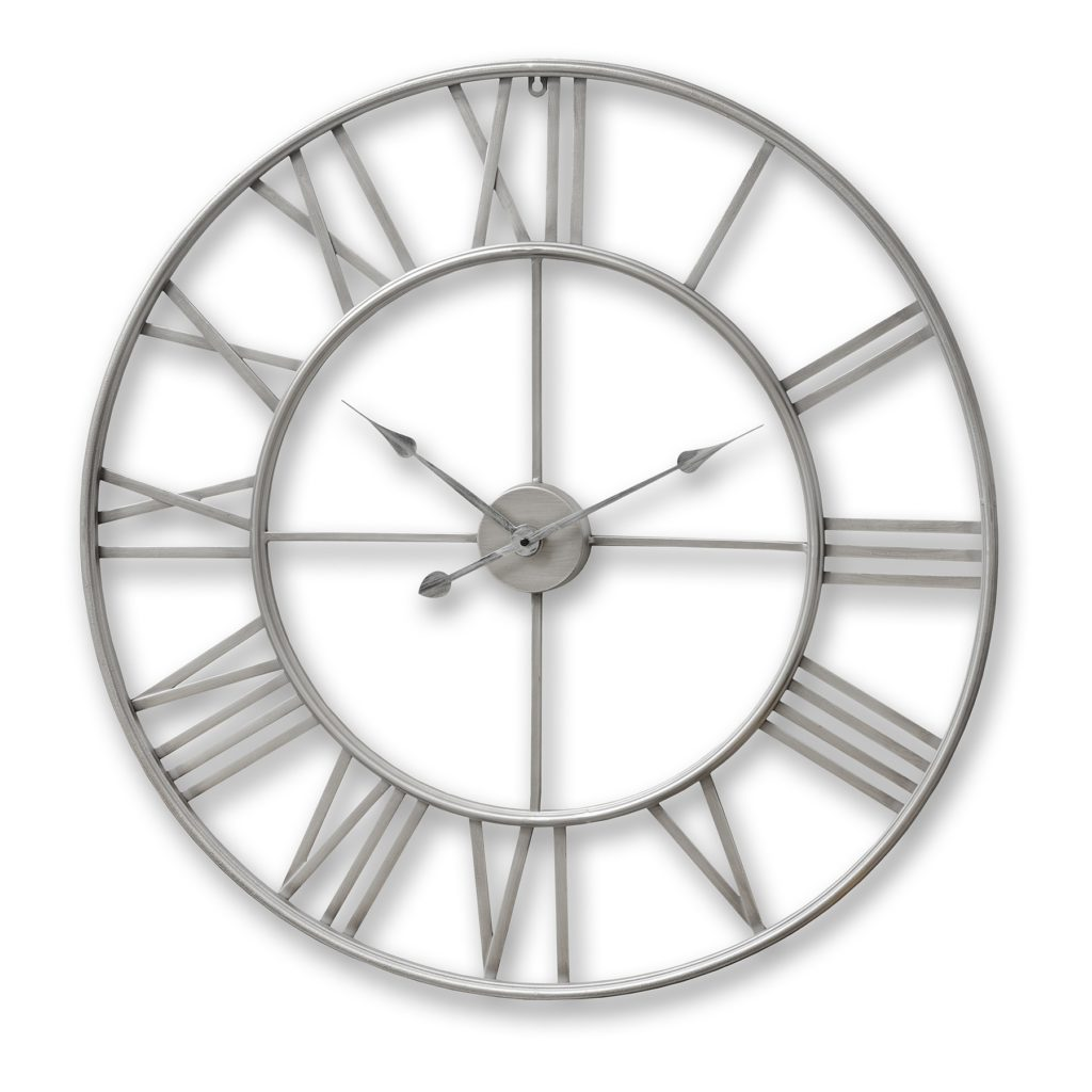 17858-SILVER-WALL-CLOCK-LARGE-SKELETOL