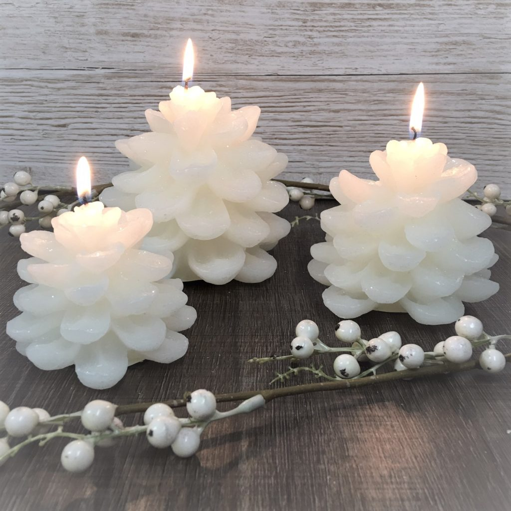 snowy-pine-cone-candle-set-1