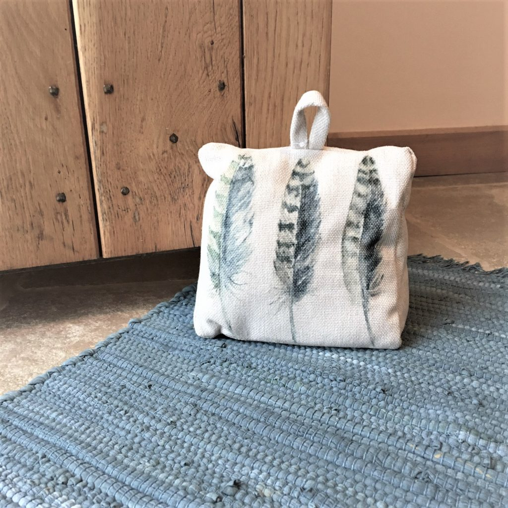 decorative door stops feathers print linen fabric door stop tutti decor ltd 11453