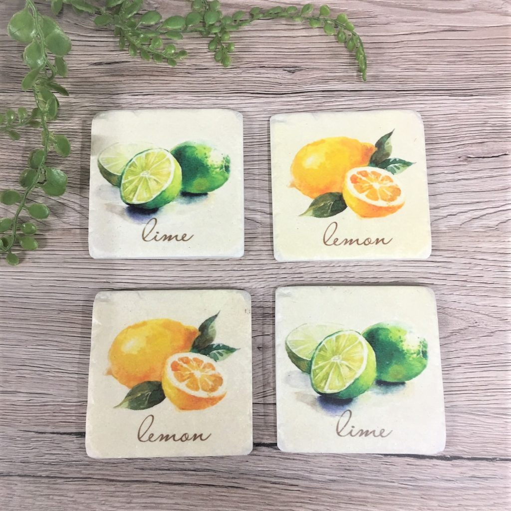 lemon-lime-stone-coaster-set