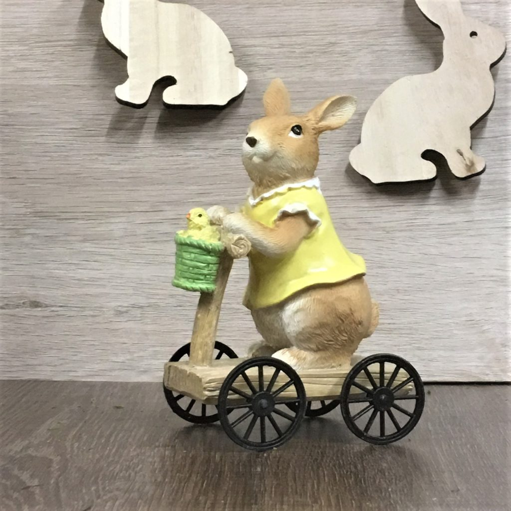 bunny-statue-ornament-girl-cart