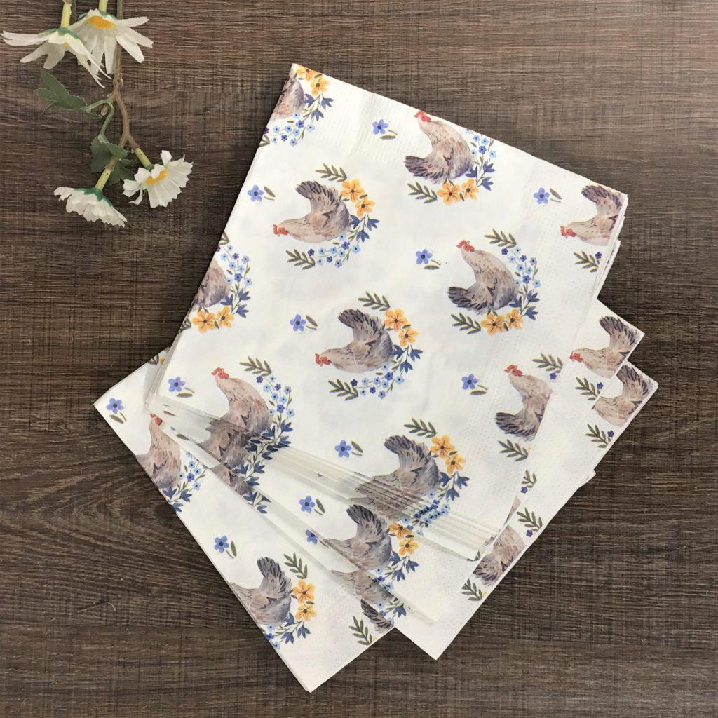 hen-napkins-easter