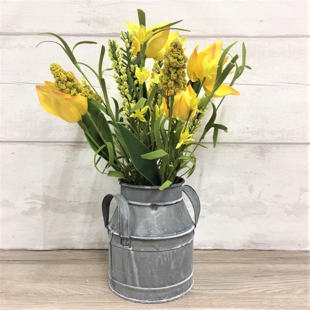 yellow-tulip-churn-arrangement