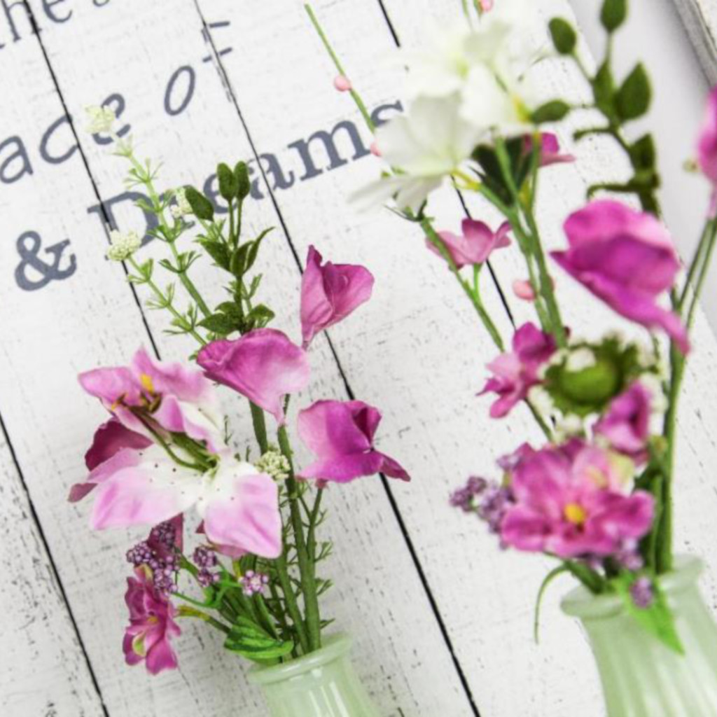 Wild Flowers in Glass Bottle BB0808GV-S3
