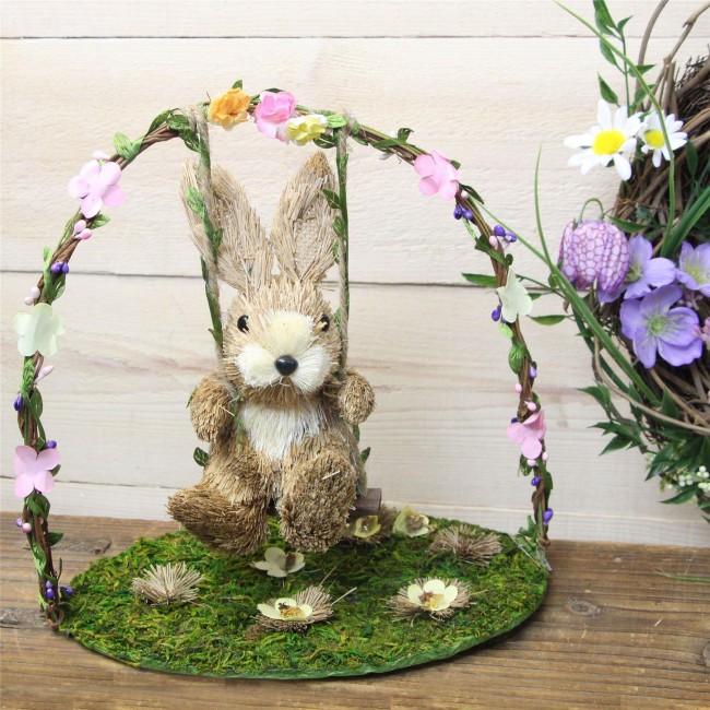 bunny on swing