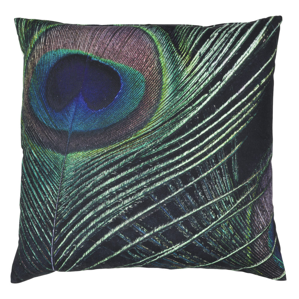 01024809517_Peacock_feather_cushion_green