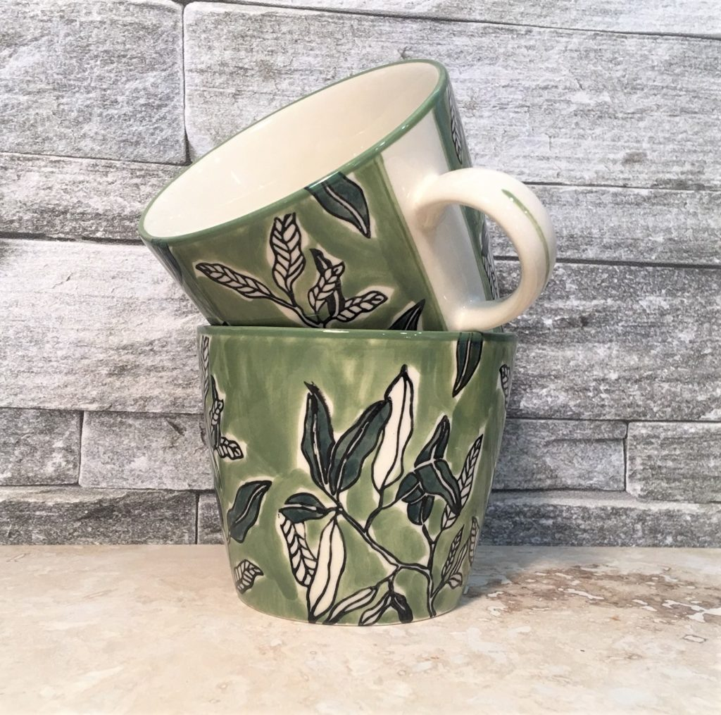green-leaves-mug
