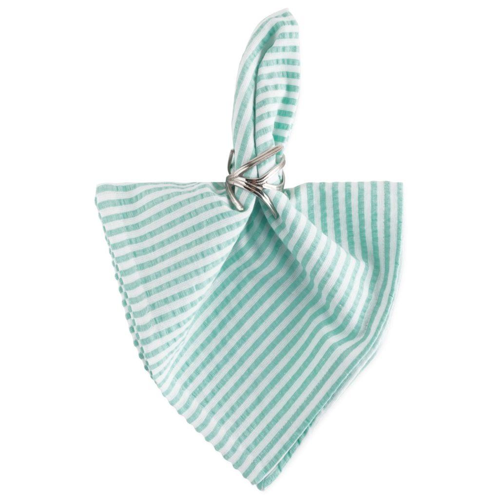Seersucker-Napkin-Set-turquoise