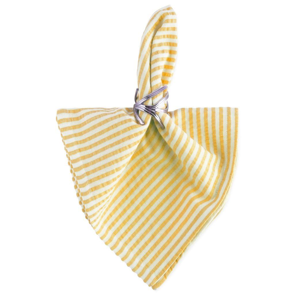 Seersucker-Napkin-Set-yellow