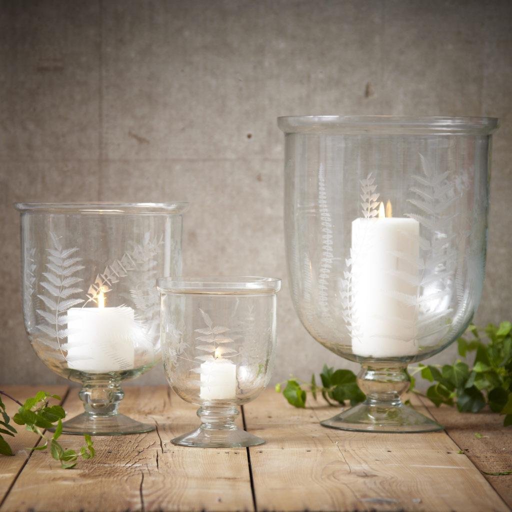 Woodland-Ferns-Hurricane-Candleholders