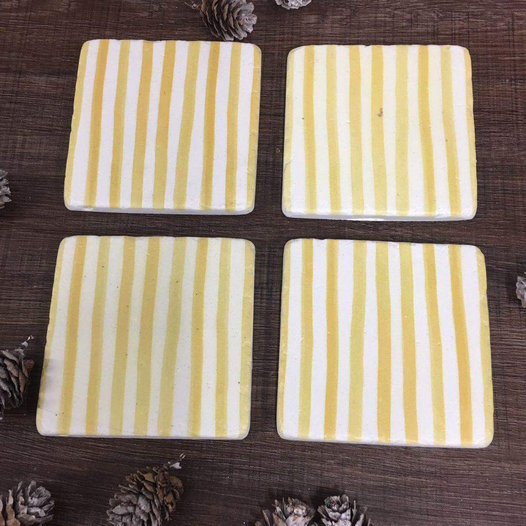yellow-stripe-coasters