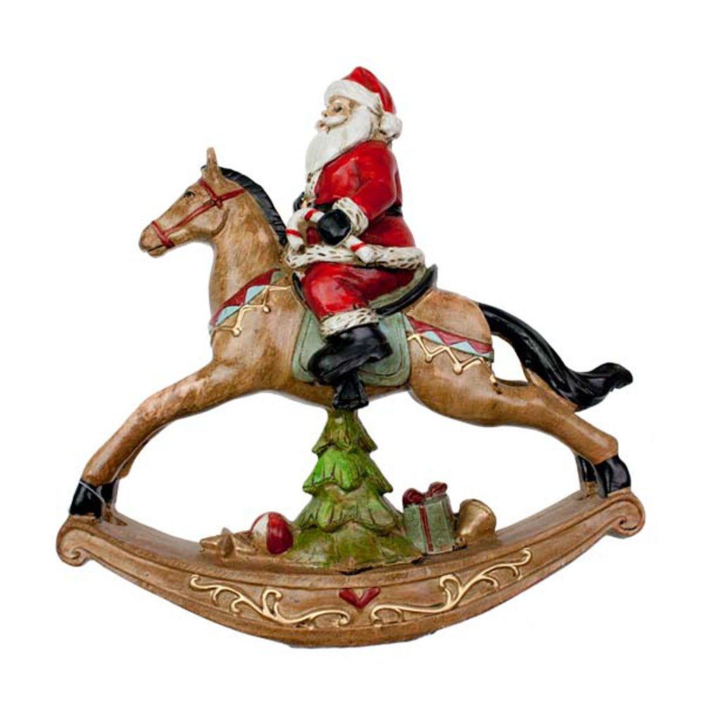 30087-RESIN-SANTA-ON-ROCKING-HORSE