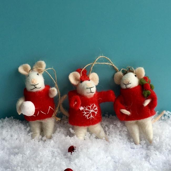 felt-wool-mix-white-mice-christmas-decorations