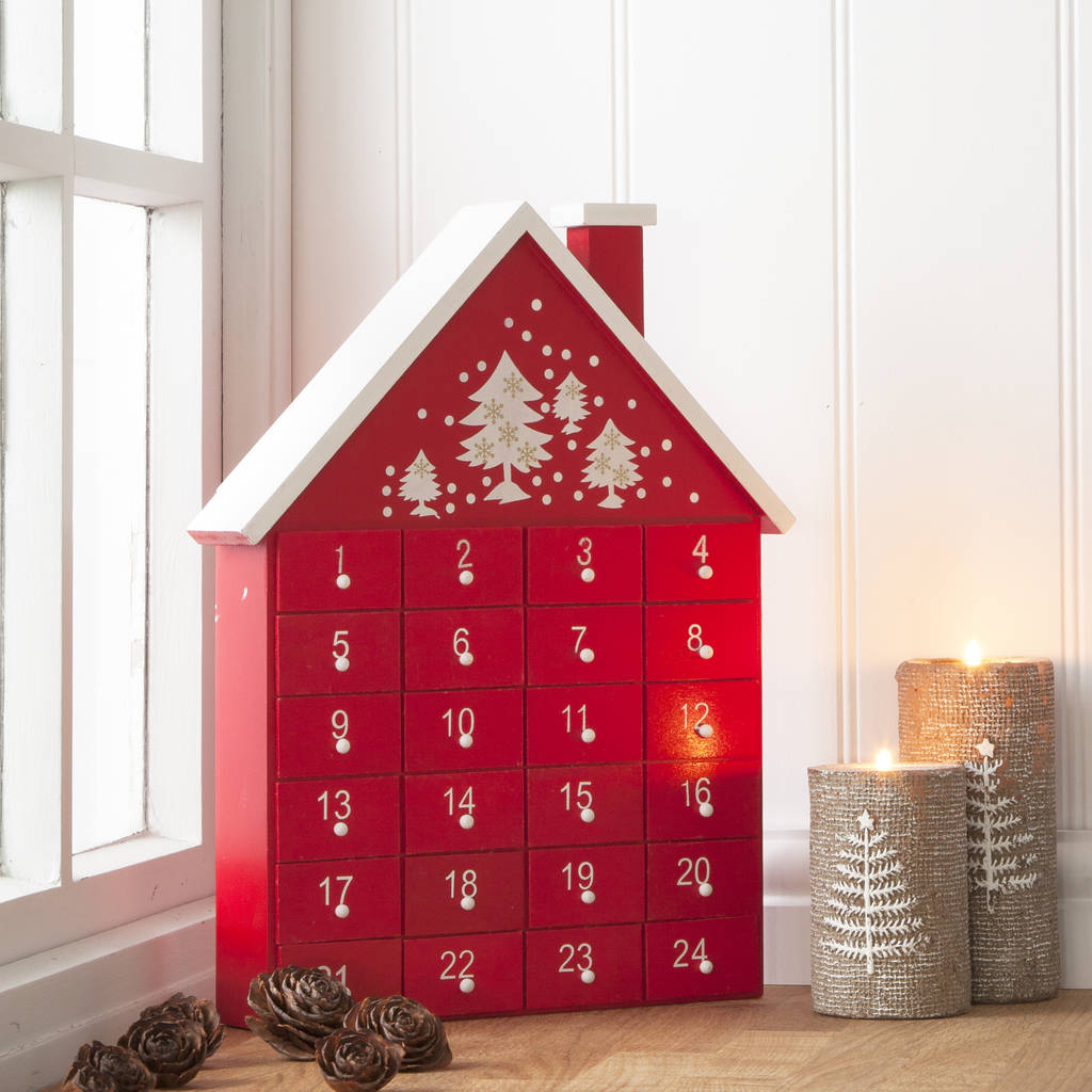 red-wooden-advent-house