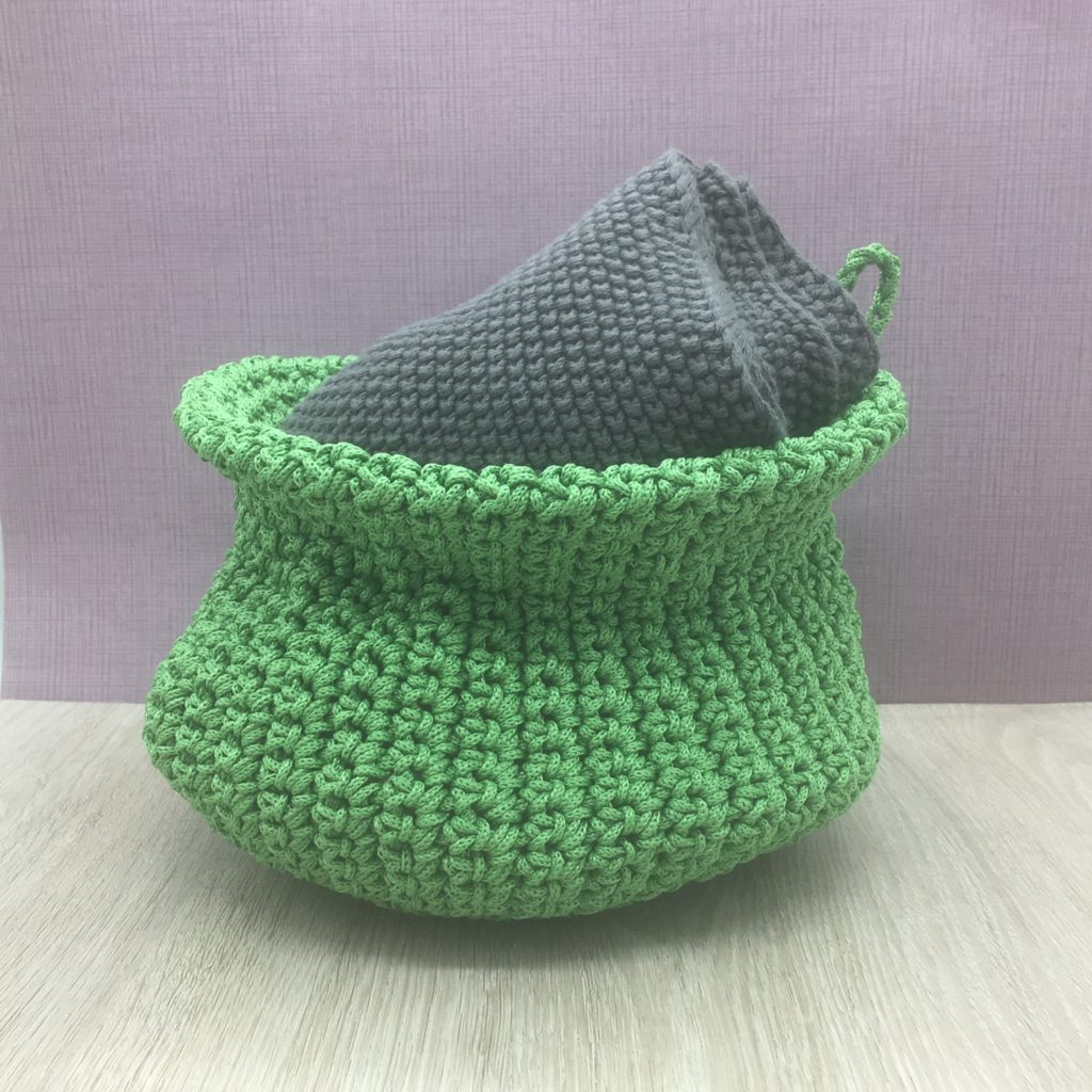 knitted-green-storage-basket-1