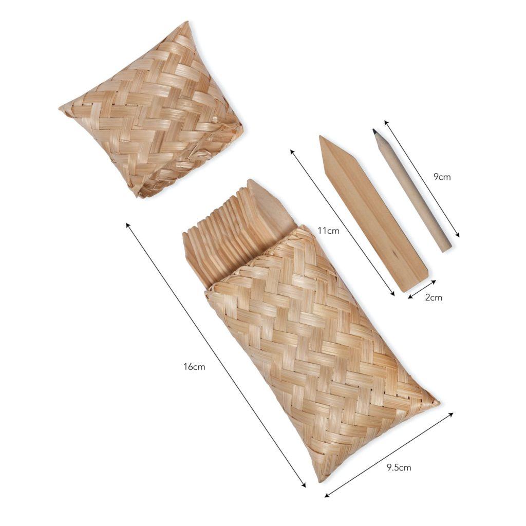 Garden Tags in a Bamboo Bag (1)